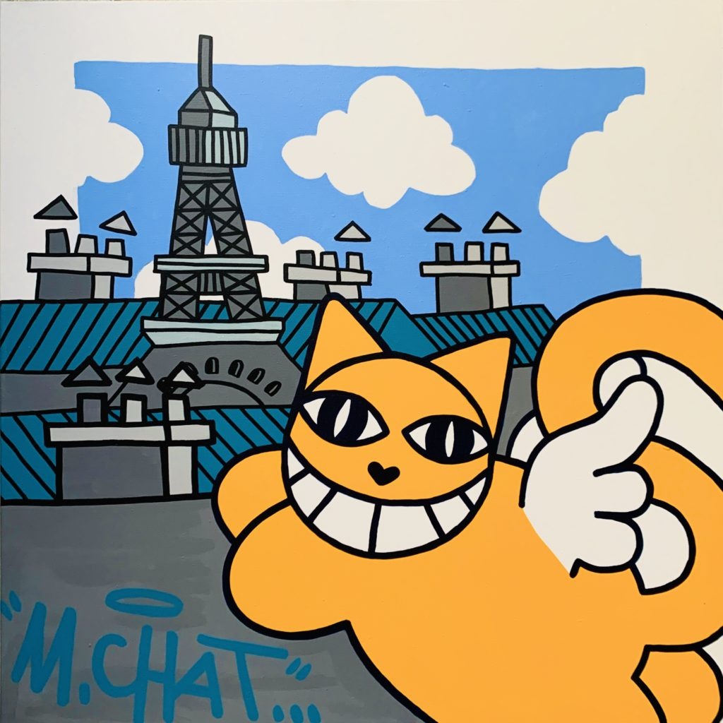 M. Chat - street art - urban art - pop my duke luxembourg - art gallery luxembourg