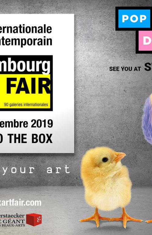 Luxembourg art fair - Luxexpo the box - 5 au 8 décembre 2019 - art luxembourg - salon d'art - galerie d'art - art gallery luxembourg - exhibition - group exhibitions - solo show - pop my duke art gallery - street art - pop art - optical art - art contemporain
