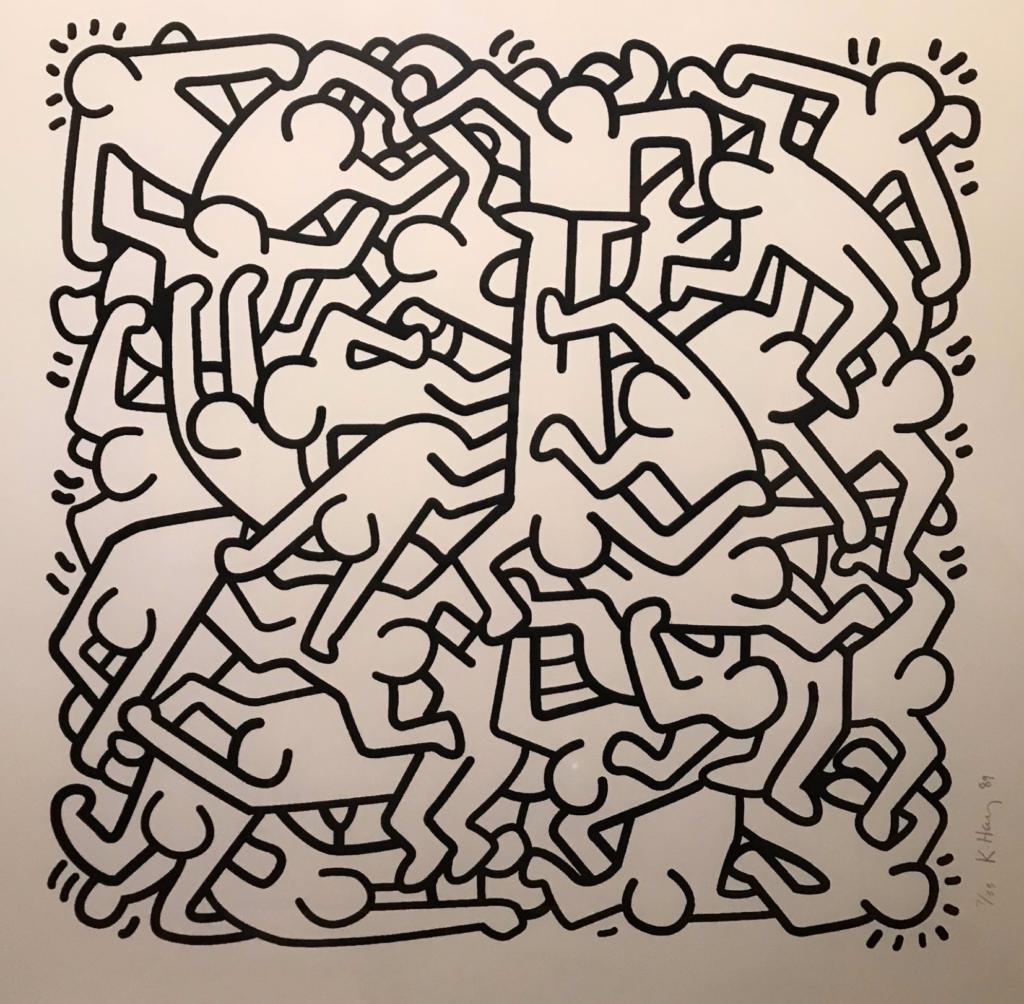 Keith Haring - optical art, art optique, pop art, pop my duke, art gallery, galerie d'art, urban art, Luxembourg, street art, art contemporain, contemporary art, artist, Artiste, colour, graffiti, photo, art fair, art basel, Keith Haring - pop my duke art gallery luxembourg