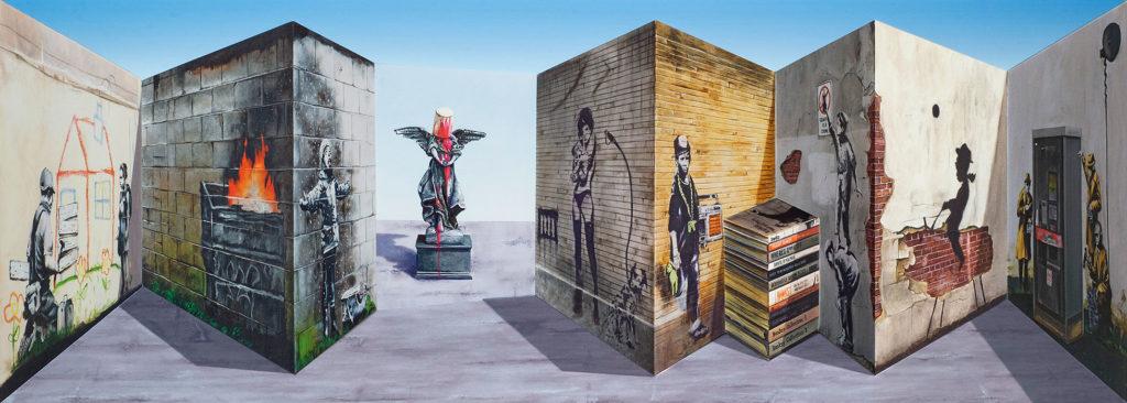 Patrick Hughes, pop art, pop my duke, art gallery, galerie d'art, urban art, Luxembourg, street art, art contemporain, contemporary art, artist, Artiste, colour, graffiti, photo, art fair, art basel, Andy Warhol, optical illusion, 3D vision